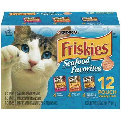 Friskies Fine Cuts Seafood Favorites Variety Pack for Cats