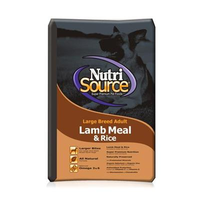 Tuffies Pet Nutrisource Large Breed Lamb/Rice Dry Food