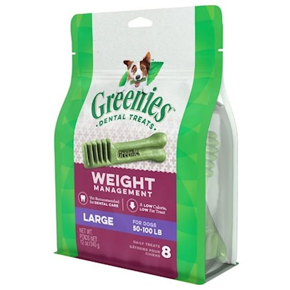 Greenies Weight Management Dental Treats for Large Dogs 17 count