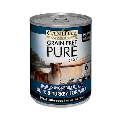 CANIDAE Grain Free pureSKY with Duck & Turkey