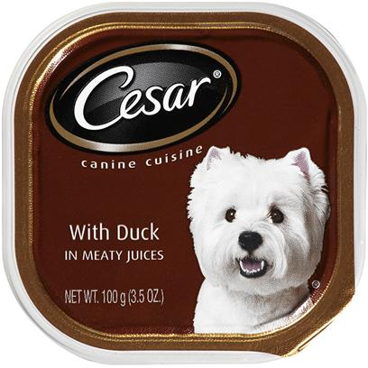 Cesar Canine Cuisine With Duck In Meaty Juices