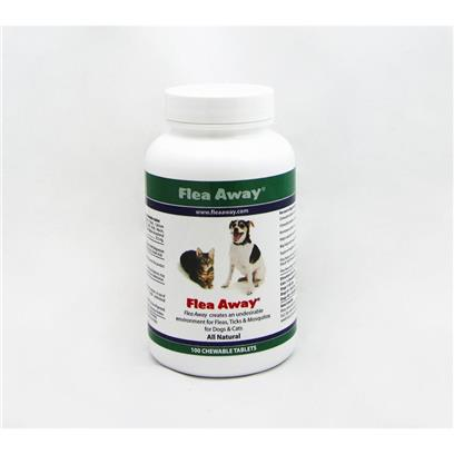 FLEA AWAY Natural Flea, Tick And Mosquito Repellent Chewable Tablets