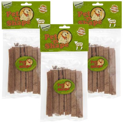 3 PACK Pet 'n Shape Lamb Strips Dog Treats 9 oz