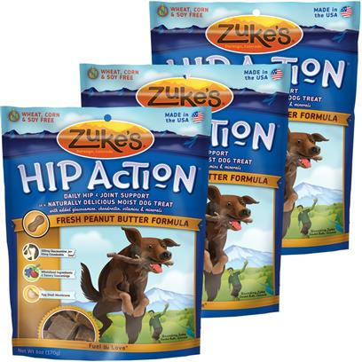 3 Packs Zuke's Hip Action with added Glucosamine and Chondroitin