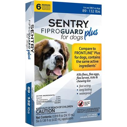 6-PACK SENTRY FiproGuard Plus Flea & Tick Spot-On for Dogs 4-22 lbs