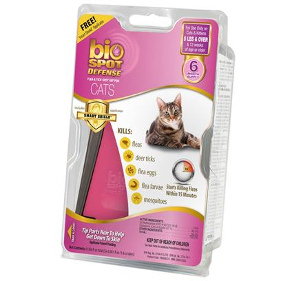 Bio Spot Defense with Smart Shield Applicator (6 month) Cats over 5 lbs