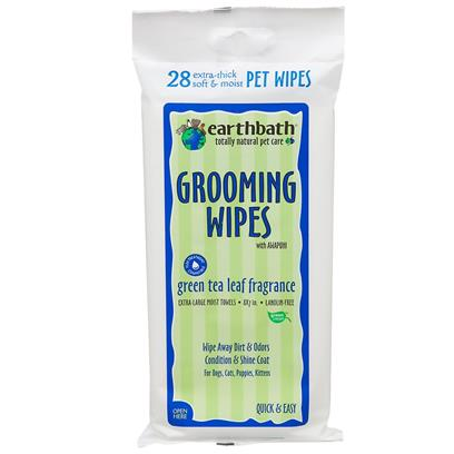 Earthbath Green Tea Leaf Grooming Wipes 28 ct