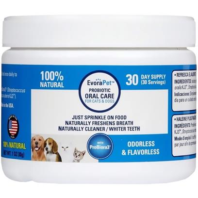EvoraPet Probiotic Oral Care 30 Day Supply
