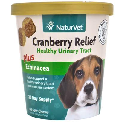 NaturVet Cranberry Relief Healthy Urinary Tract Plus Echinacea