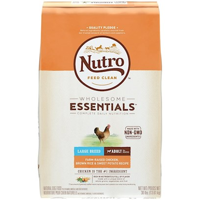 Nutro Natural Choice Large Breed Chicken, Whole Brown Rice & Oatmeal Adult Dog (15 lb)