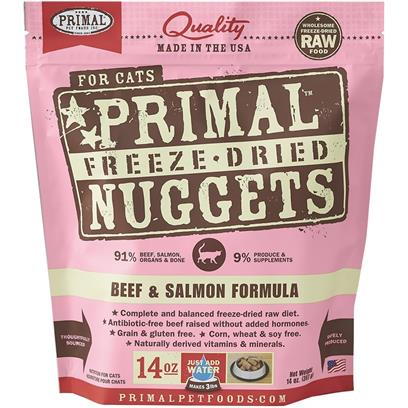 Primal Freeze Dried Beef & Salmon Cat Food 14 oz