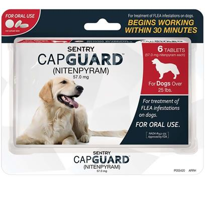 SENTRY CapGuard Flea Tablets for Dogs Over 25 lbs