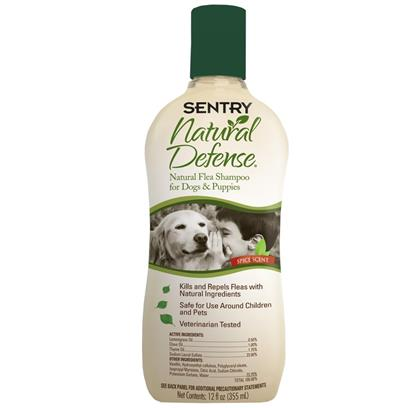 Sentry Natural Defense Flea Dog Shampoo 12 oz