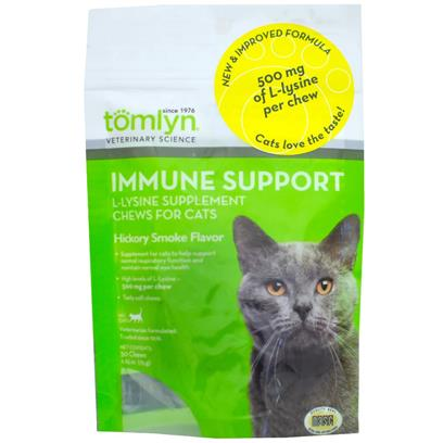 Tomlyn L-Lysine Immune Support Supplement Chews for Cats