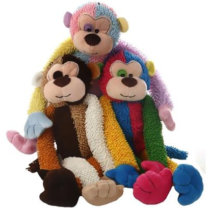 Multipet Multicrew Christmas Plush Monkey 17