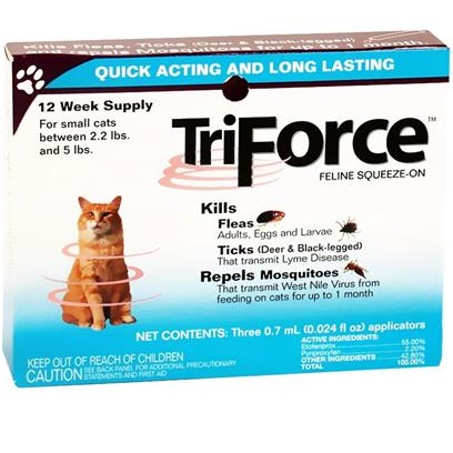 3 MONTH TriForce for SMALL CATS 2.2-5 lbs 3 MONTH TriForce for SMALL CATS 2.2-5 lbs