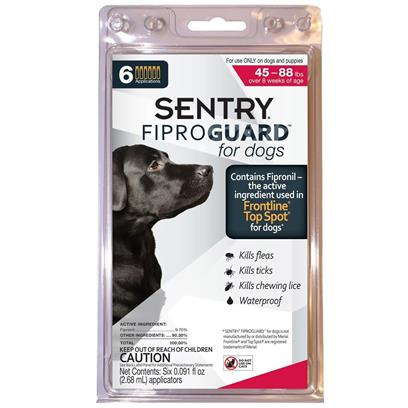 Fiproguard Flea & Tick Squeeze-On for Dogs 45-88 lbs, 6-PACK Fiproguard Flea & Tick Squeeze-On for Dogs 45-88 lbs, 6-PACK