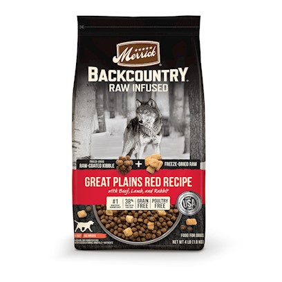 Merrick Backcountry Raw Infused Grain Free Great Plains Red Recipe Dry Dog Food 20-lb