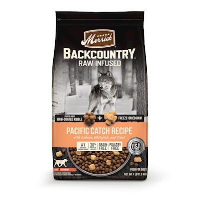 Merrick Backcountry Raw Infused Grain Free Pacific Catch Recipe Dry Dog Food 20-lb