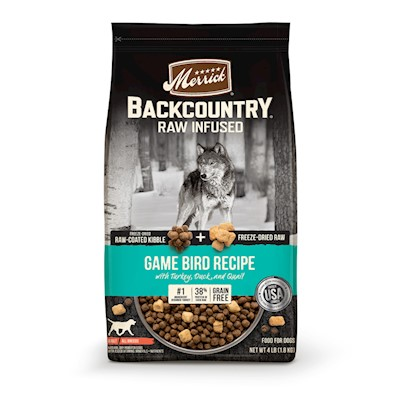 Merrick Backcountry Raw Infused Grain Free Wild Game Bird Recipe Dry Dog Food 20-lb