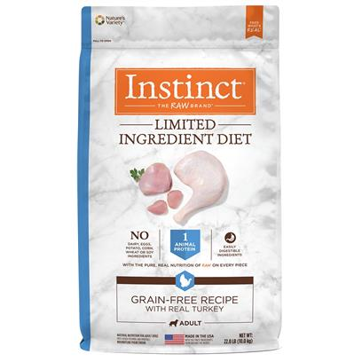 Nature's Variety Instinct Limited Ingredient Diet Adult Grain Free Recipe with Real Turkey Natural Dry Dog Food 22-lb