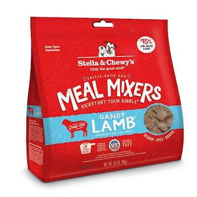 Stella & Chewy's Freeze Dried Raw Dandy Lamb Meal Mixers Grain Free Dog Food Topper 3.5-oz