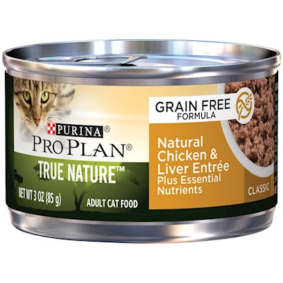 Purina Pro Plan True Nature Grain Free Adult Natural Chicken and Liver Entree Canned Cat Food
