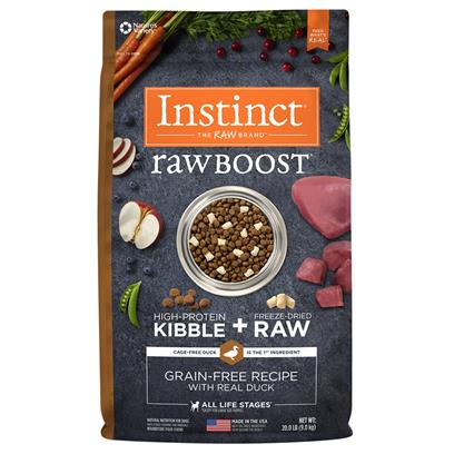 Nature's Variety Instinct Raw Boost Grain Free Recipe with Real Duck Natural Dry Dog Food 20-lb
