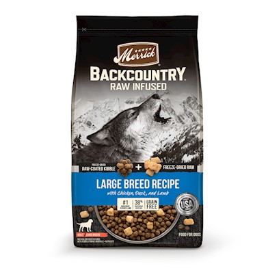 Merrick Backcountry Raw Infused Grain Free Large Breed Recipe Dry Dog Food 20-lb