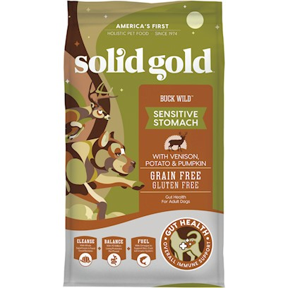 Solid Gold Buck Wild Adult Venison, Potato and Pumpkin Recipe Dry Dog Food 24-lb