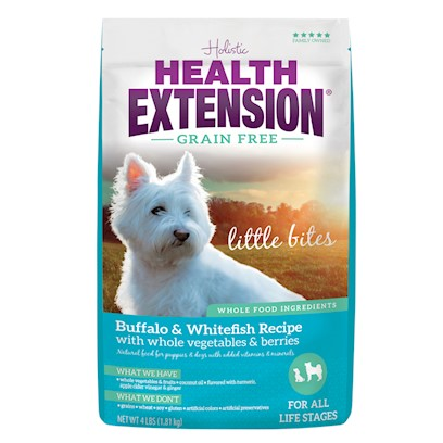 Health Extension Grain Free Buffalo and Whitefish Little Bites Recipe Dry Dog Food