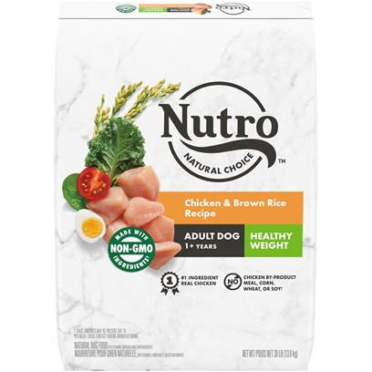 Nutro Wholesome Essentials Healthy Weight Adult Farm-Raised Chicken, Brown Rice & Sweet Potato Dry Dog Food