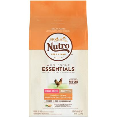Nutro Wholesome Essentials Small Breed Puppy Chicken, Whole Brown Rice and Sweet Potato Dry Dog Food