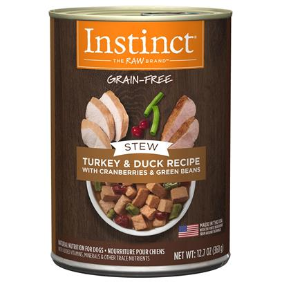 Nature's Variety Instinct Grain Free Stews Turkey and Duck with Cranberries and Green Beans Recipe Natural Canned Dog Food