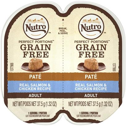 Nutro Perfect Portions Adult Grain Free Salmon and Chicken Pate Wet Cat Food Trays