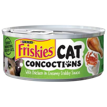 Friskies Cat Concoctions with Chicken in Creamy Crabby Sauce Canned Cat Food
