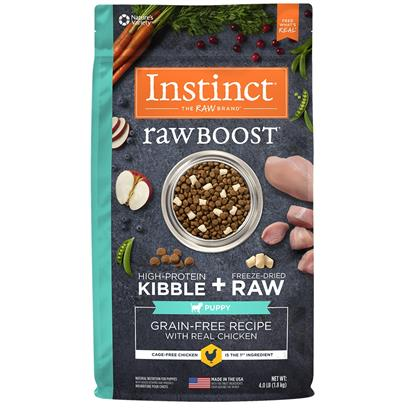 Nature's Variety Instinct Raw Boost Puppy Grain Free Recipe with Real Chicken Natural Dry Dog Food