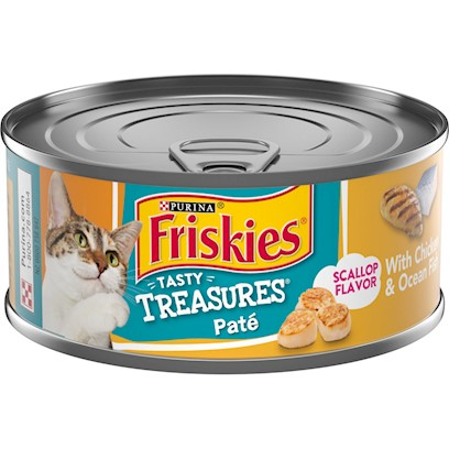 Friskies Tasty Treasures Pate Chicken and Ocean Fish Dinner Canned Cat Food