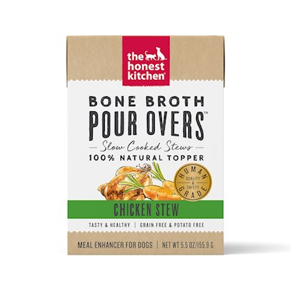 The Honest Kitchen Pour Overs Grain Free Chicken Stew Recipe Food Topper for Dogs