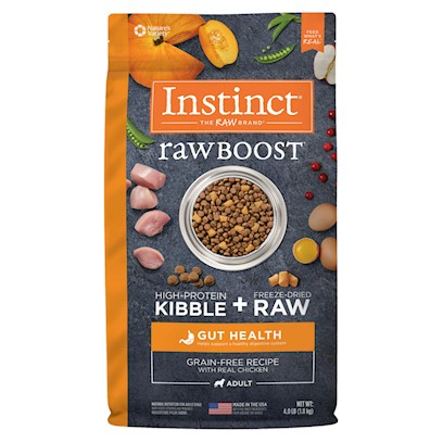 Nature's Variety Instinct Raw Boost Grain Free Gut Health Recipe with Real Chicken Dry Dog Food 18-lb