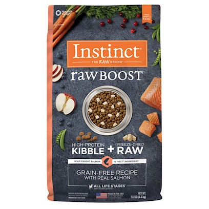 Nature's Variety Instinct Raw Boost Grain Free Real Salmon Recipe Dog Food 19-lb