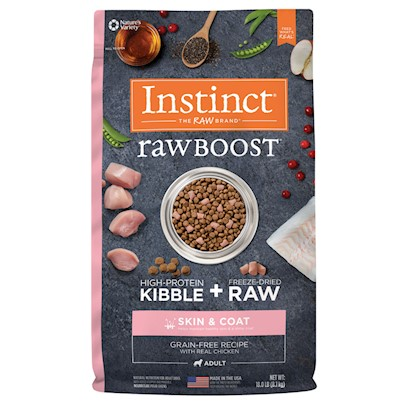 Nature's Variety Instinct Raw Boost Grain Free Skin & Coat Health Recipe with Real Chicken Dry Dog Food 18-lb