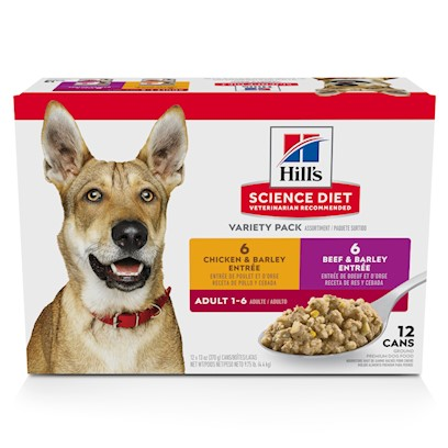 Hill's Science Diet Variety Pack Adult Canned Dog Food