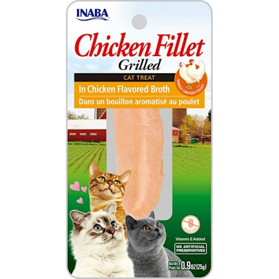 Inaba Ciao Grain Free Grilled Chicken Fillet in Broth Cat Treat
